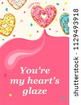 valentine's day card. pink... | Shutterstock .eps vector #1129493918