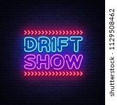 drift show sign vector design...   Shutterstock .eps vector #1129508462