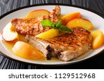 organic food  grilled spicy... | Shutterstock . vector #1129512968