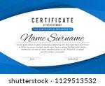 certificate template in elegant ... | Shutterstock .eps vector #1129513532