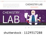 flat laboratory research... | Shutterstock .eps vector #1129517288