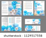 set of color abstract brochure... | Shutterstock .eps vector #1129517558