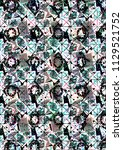 abstract colorful checkered...   Shutterstock . vector #1129521752