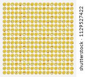 set of smile icons. emoji.... | Shutterstock .eps vector #1129527422