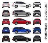 realistic suv cars set. front... | Shutterstock .eps vector #1129528688