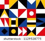 mural geometric backgrounds... | Shutterstock .eps vector #1129528775