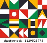 mural geometric backgrounds... | Shutterstock .eps vector #1129528778
