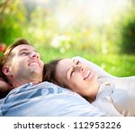 Happy Smiling Couple Relaxing...