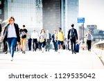 london  uk   20 april  2018 ...   Shutterstock . vector #1129535042