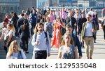 london  uk   20 april  2018 ... | Shutterstock . vector #1129535048