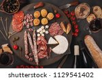 appetizers table with... | Shutterstock . vector #1129541402