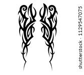 tribal pattern vector tattoo... | Shutterstock .eps vector #1129547075