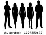 vector silhouettes men and... | Shutterstock .eps vector #1129550672
