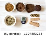 set of complex  carbohydrates... | Shutterstock . vector #1129553285