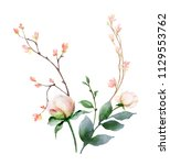 watercolor hand painting...   Shutterstock . vector #1129553762