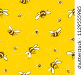 cute seamless pattern with... | Shutterstock .eps vector #1129555985