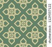 art deco pattern. seamless... | Shutterstock .eps vector #1129557122