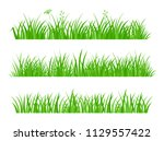 beautiful fresh green spring... | Shutterstock .eps vector #1129557422