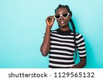 close up portrait of cheerful... | Shutterstock . vector #1129565132