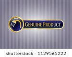 golden emblem with shower icon ... | Shutterstock .eps vector #1129565222