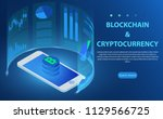 bitcoin  cryptocurrency ... | Shutterstock .eps vector #1129566725