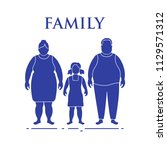 family. mom  dad and daughter.... | Shutterstock .eps vector #1129571312