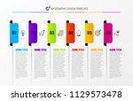infographic design template.... | Shutterstock .eps vector #1129573478
