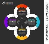 infographic design template.... | Shutterstock .eps vector #1129573508