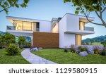 3d rendering of modern cozy... | Shutterstock . vector #1129580915