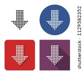 dotted icon of downward...   Shutterstock .eps vector #1129582352