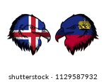 iceland vs liechtenstein | Shutterstock . vector #1129587932