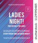 party poster for night club.... | Shutterstock .eps vector #1129590485