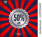 sale 50  off. fifty percent...   Shutterstock .eps vector #1129592645