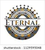 eternal arabic emblem... | Shutterstock .eps vector #1129595048