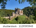historic and old castle eltz in ... | Shutterstock . vector #1129595945