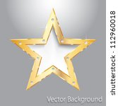 Golden Star On Metal Plate With ...