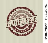 red gluten free distressed...   Shutterstock .eps vector #1129602752