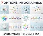 bundle of infographic design... | Shutterstock .eps vector #1129611455