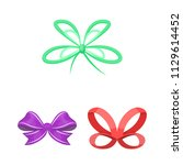 multicolored bows cartoon icons ... | Shutterstock .eps vector #1129614452