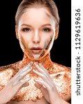 beauty shoot of glamor blonde... | Shutterstock . vector #1129619636