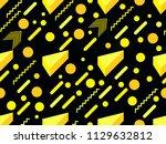 memphis seamless pattern.... | Shutterstock .eps vector #1129632812