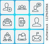 communication icons set with... | Shutterstock .eps vector #1129634066