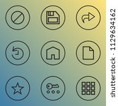 user icons line style set with... | Shutterstock .eps vector #1129634162