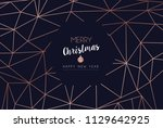 merry christmas and happy new...   Shutterstock .eps vector #1129642925