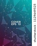 trendy report template. global... | Shutterstock .eps vector #1129649525