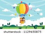 vector illustration of kids... | Shutterstock .eps vector #1129650875