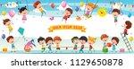 vector illustration of happy... | Shutterstock .eps vector #1129650878