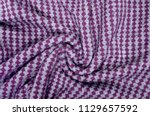 close up on crumpled knit...   Shutterstock . vector #1129657592