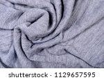 close up on crumpled knit...   Shutterstock . vector #1129657595
