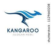 kangaroo logo design... | Shutterstock .eps vector #1129660208